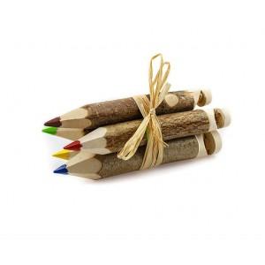 Kunterbunt Holzzstifte: Pfeifenstifte 5er Set - Holzspielzeug Pofi