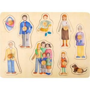 Holzpuzzle Familie von small foot - Holzspielzeug Profi