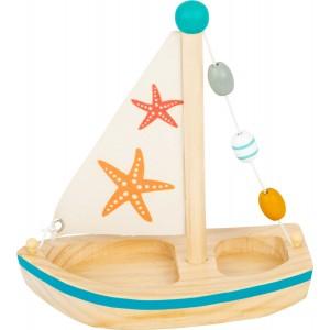 small foot Wasserspielzeug Segelboot Seestern - Holzspielzeug Profi