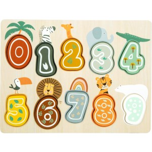 Setzpuzzle Zahlen Safari von small foot - Holzspielzeug Profi
