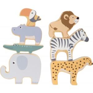 Stapeltiere Safari von small foot - Holzspielzeug Profi