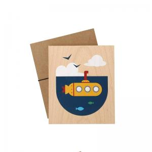 Lubulona Holzbild Illustration U-Boot - Holzspielzeug Profi