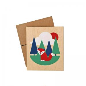 Lubulona Holzbild Illustration Fuchs - Holzspielzeug Profi