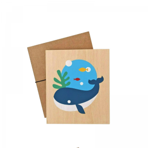 Lubulona Holzbild Illustration Wal - Holzspielzeug Profi