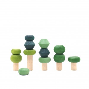 Lubulona Stapelbäume Sommer - Holzspielzeug Profi