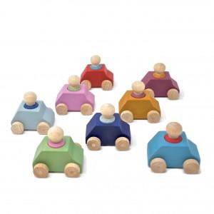Lubulona Spielzeugauto Set mit Holzfiguren - Holzspielzeug Profi