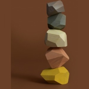 MinMin Copenhagen Balancing Stones Pastel - Holzspielzeug Profi