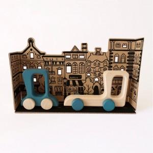 Me&Mine Road Stories Cars - Holzspielzeug Profi