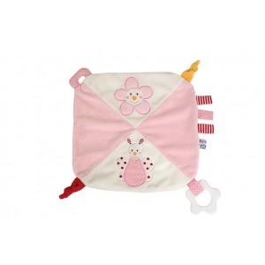 JaBaDaBaDo Baby Schmusetuch Schmetterling rosa - Holzspielzeug Profi