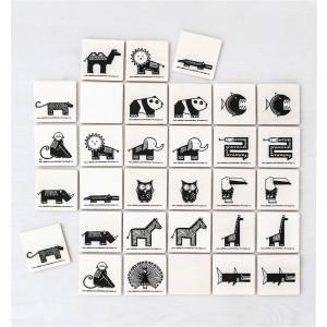 ooh noo Memospiel Tiere (16 Paare) - Holzspielzeug Profi