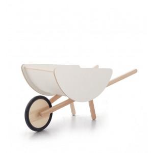 ooh noo Weiße Schubkarre aus Holz - Holzspielzeug Profi