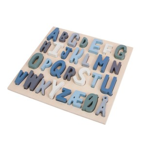 sebra Holzpuzzle ABC königsblau - Holzspielzeug Profi