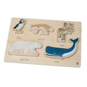 sebra Holzpuzzle Arctic Animals - Holzspielzeug Profi