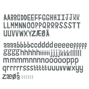 sebra Wandsticker Buchstaben classic grey - Holzspielzeug Profi
