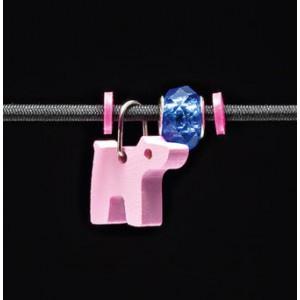 Selecta Kinderschmuck Anhänger Hund rosa  - Holzspielzeug Profi