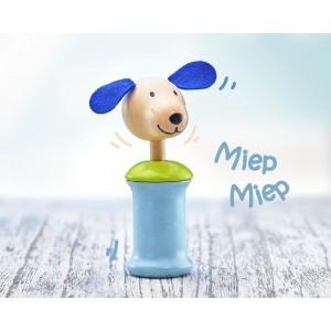 Selecta Hund Ringo Quietschspielzeug: miep miep - Holzspielzeug Profi