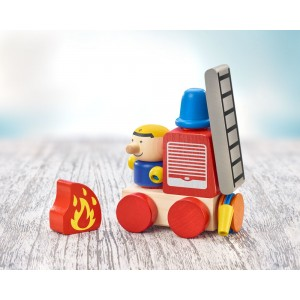 Selecta Klettini® Feuerwehr- Holzspielzeug Profi