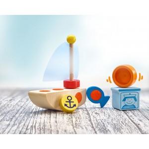 Selecta Klettini® Boot: 6 Teile - Holzspielzeug Profi