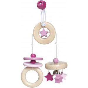 Selecta bellybutton Mini-Trapez Sternchenspaß rosa - Holzspielzeug Profi