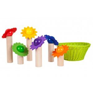 Blüten-Balanciersppiel von SINA Spielzeug - Holzspielzeug Profi