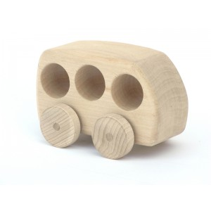 Holzauto Betty natur von Schaukeltier - Holzspielzeug Profi