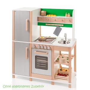 SUN Kinderküche in silber-grün (ohne Zubehör) - Holzspielzeug Profi