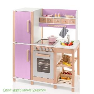 SUN Kinderküche in natur-flieder (ohne Zubehör)- Holzspielzeug Profi