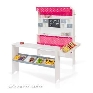 SUN Kaufladen weiß-pink (ohne Zubehör) - Holzspielzeug Profi