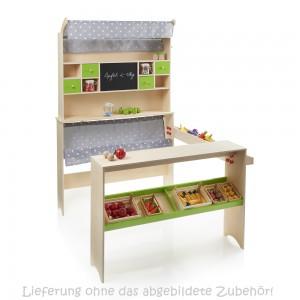 SUN Kaufladen natur-grün (ohne Zubehör) - Holzspielzeug Profi