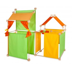 Trígonos Maxi in gelb-grün-orange - Holzspielzeug Profi