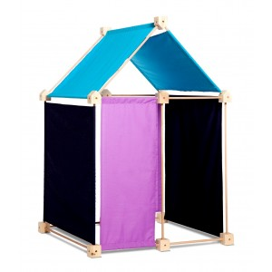 Trígonos Kernel in blau-türkis-pink - Holzspielzeug Profi