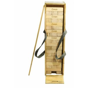 Übergames Riesenwackelturm aus Kiefer in Holzkiste - Holzspielzeug Profi
