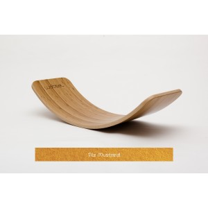 Wobbel Original Bambus mit Filz Mustard - Holzspielzeug Profi