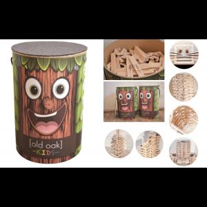 old oak kids Holzbausteine Woody Stabis - Holzspielzeug Profi