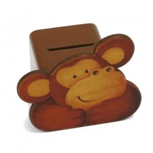 Weizenkorn Spardose Affe - Holzspielzeug Profi