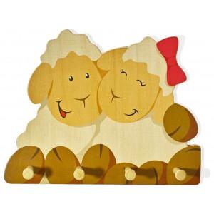 Kindergarderobe Schafe von Weizenkorn - Holzspielzeug Profi