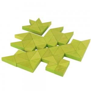 Beck Trioko Dreieck-Puzzle grün - Holzspielzeug Profi