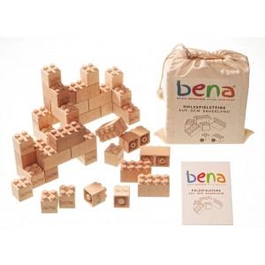bena Holzbausteine 96 Teile SET - Holzspielzeug Profi