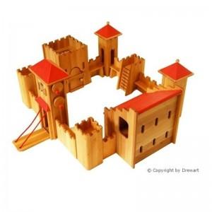 Drewart Ritterburg: Mittelgroßes Schloss als Set von oben  - Holzspielzeug Profi