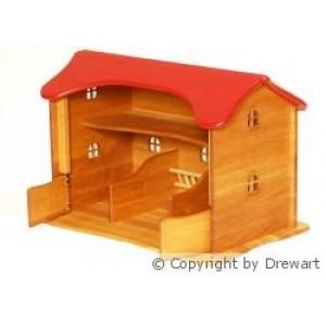 Drewart Viehstall mit rotem Dach