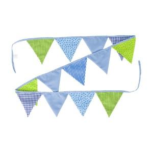 goki Wimpelkette blau-grün aus Stoff