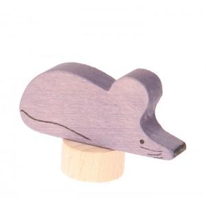 GRIMM´S Stecker grau-rosa Maus