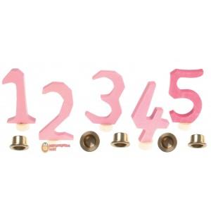 GRIMM´S Zahlenstecker 1-5, rosa