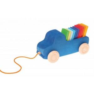 GRIMM´S Blauer Lastwagen zum Nachziehen