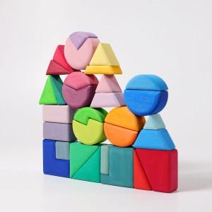 GRIMM´S Bauspiel Dreieck Viereck Kreis - Holzspielzeug Profi