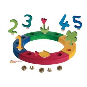 GRIMM´S Geburtstagsdeko Kleiner Ring Regenbogen