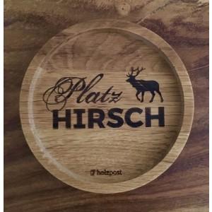 Holzpost® Untersetzer PlatzHirsch