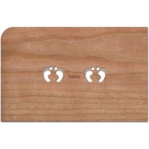 Holzpost® Grußkarte Baby Twins