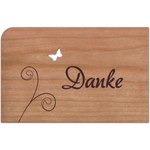 Holzpost® Grußkarte Danke
