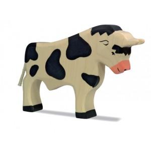 HOLZTIGER Stier, schwarz